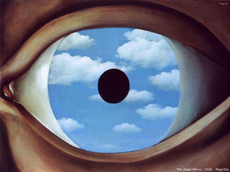 Le faux miroir- Magritte