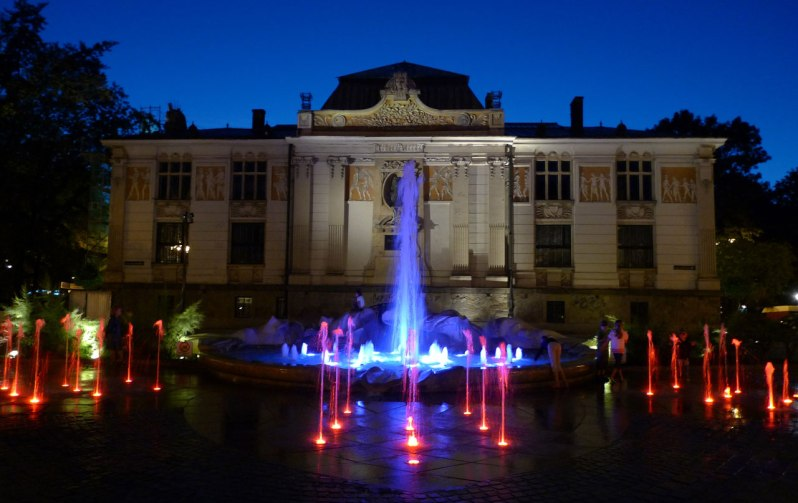 fontaine lumineuse cracovie