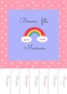 Bonne fête maman rainbow