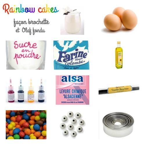 rainbow cakes ingrédients