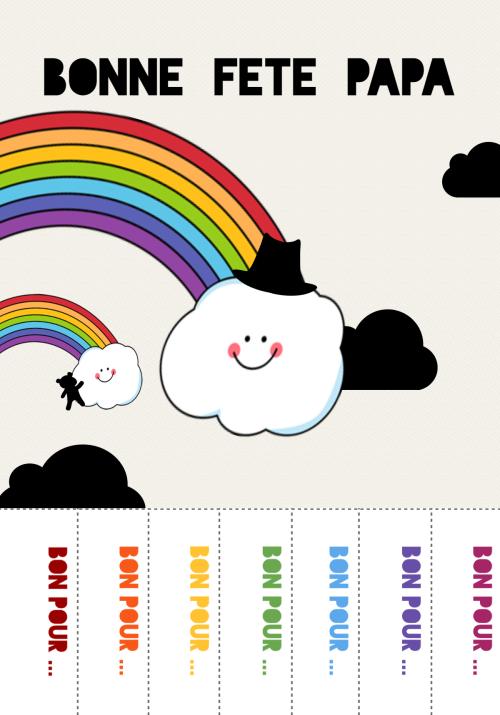 bonne fête papa rainbow