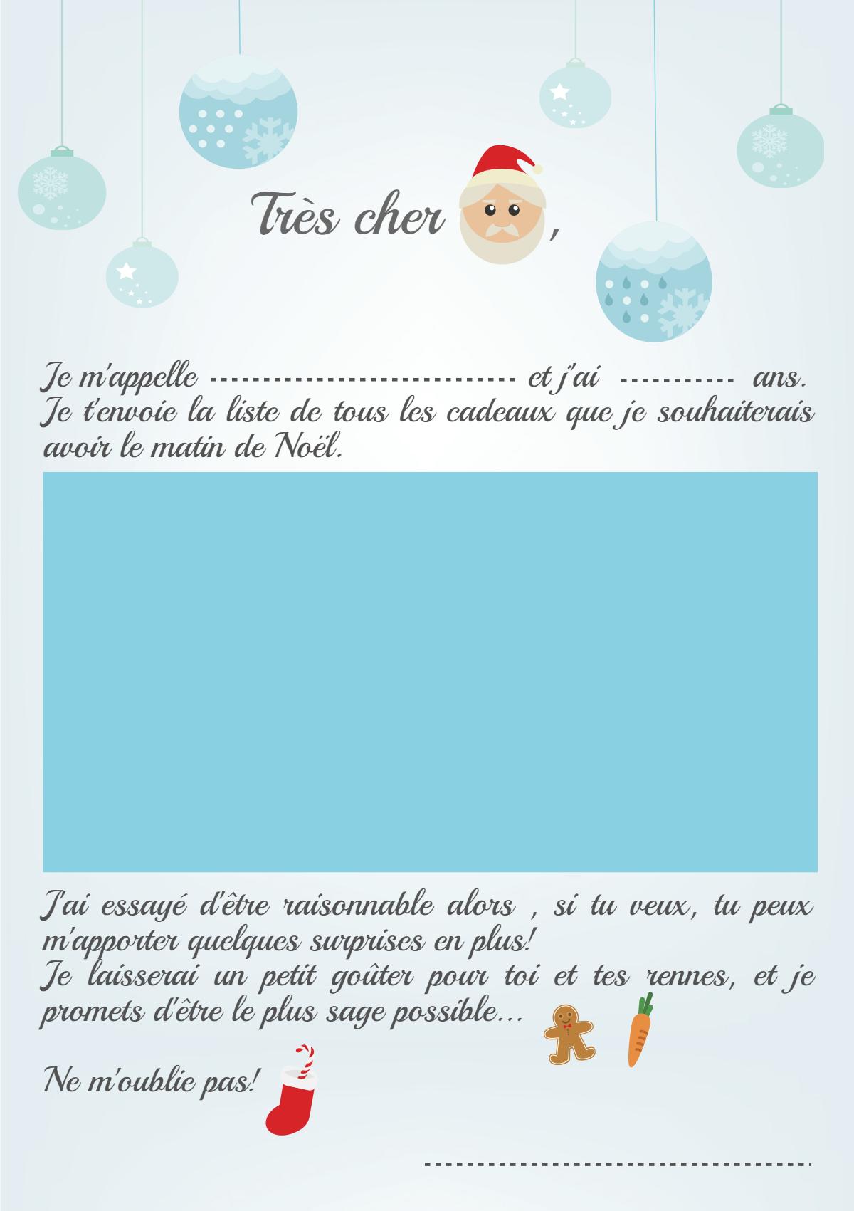 Exemple De Lettre Pour Le Pere Noel.Tres Cher Papa Noel Modeles De Lettre A Imprimer Je Ne