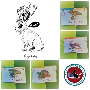 jackalope mix and match printable