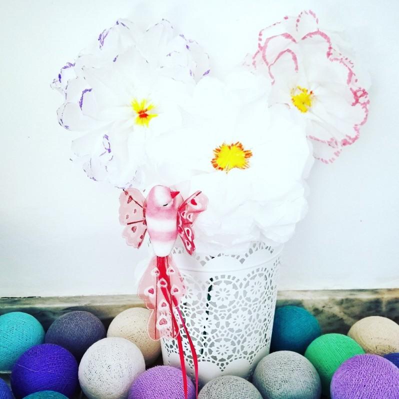 fleurs mouchoir en papier DIY (14)