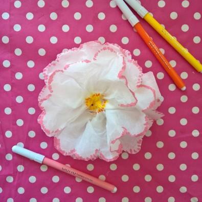 fleurs mouchoir en papier DIY (8)