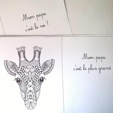 Mon papa livre à colorier et à personnaliser animaux de la jungle (1)