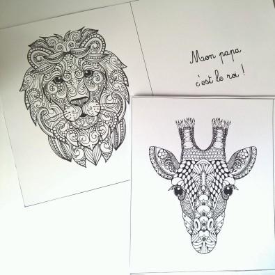 Mon papa livre à colorier et à personnaliser animaux de la jungle (2)