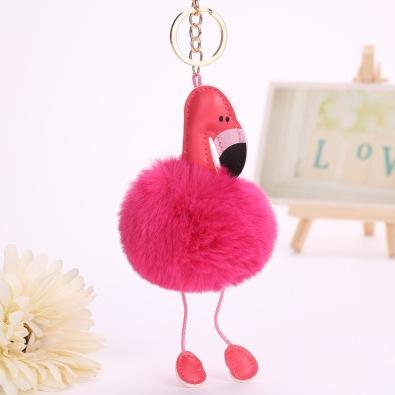 Fancy-Fantasy-Donne-di-Modo-Soffici-Pom-Bag-font-b-Pink-b-font-font-b-Flamingo