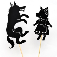 Promenons-nous dans les bois: mon petit théâtre d'ombres à imprimer