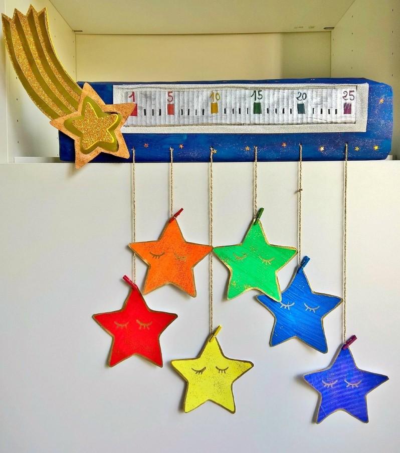 Calendrier de l'avent étoilé et ses étoiles à gratter (4)