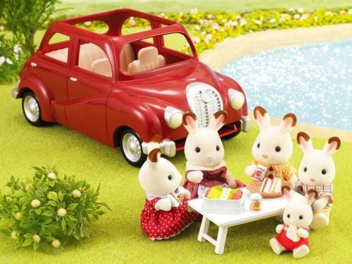 voiture rouge sylvanian