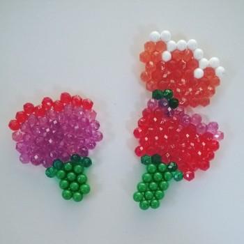 Carte bouquet de fleurs Aquabeads fete des meres (4)