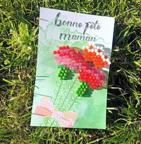 Carte Bouquet Fête des mères Aquabeads