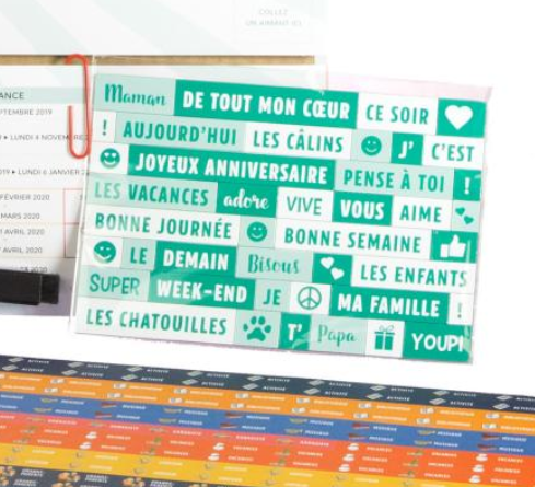 calendrier familial magnets messages